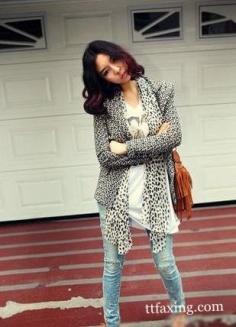 豹纹丝巾搭配 专属潮女们的混搭风情