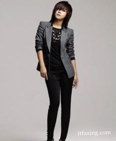 黑色铅笔裤搭配 穿出职业范儿
