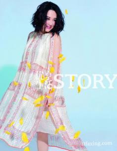 时尚杂志许晴封面照曝光 华丽变身花仙子