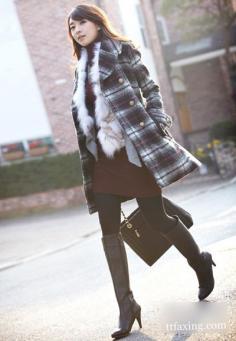 冬日OL服饰巧搭配 尽显优雅女人味