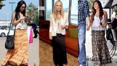 女装流行趋势 跟着明星穿出波西米亚长裙潮流感