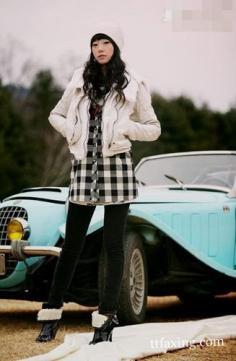 女装短款夹克穿出高挑身姿