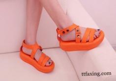 时尚女士夏季凉鞋 沉醉于异彩缤纷世界