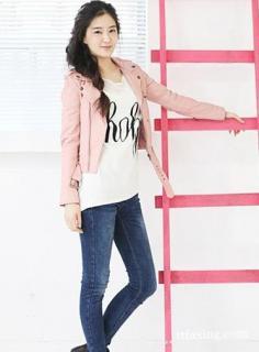 粉色皮衣怎么搭配既甜美又不显幼稚?