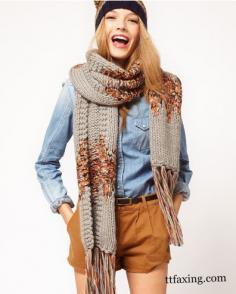 春秋围巾搭配 教你时尚达人的百变造型