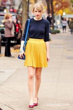 乡村天后Taylor Swift街拍 引领最新潮流