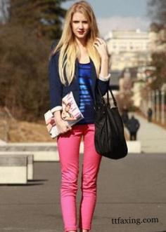 铅笔裤怎么搭配穿出显瘦欧范儿?
