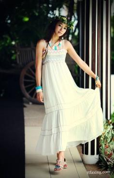波西米亚长款连衣裙完美体现你的优雅气质